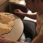 Карта России деревянный пазл